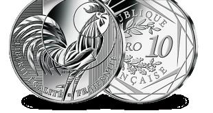 Pièce 10 euros Coq argent 333/1000