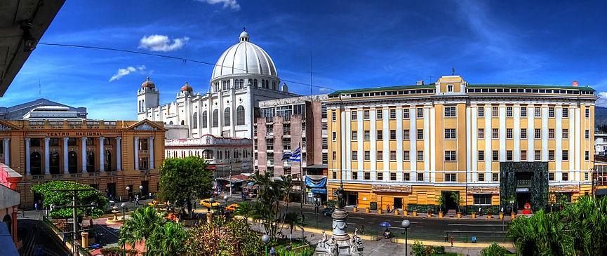 panoramique du centre histoire de San Salvador