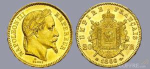 Pièce or 20 Francs - Napoléon III