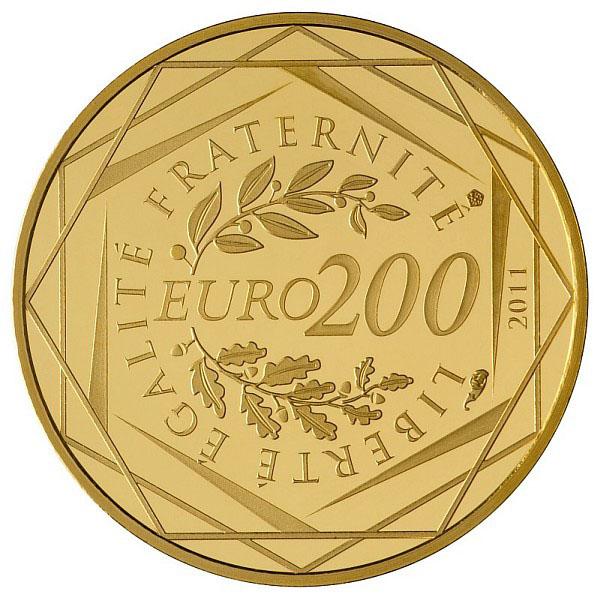 la pi ce en or de 200 euros n est pas une bonne pi ce d investissement l 39 or et l 39 argent. Black Bedroom Furniture Sets. Home Design Ideas