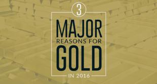 """3 raisons pour être """"gold"""" en 2016 (c) Visualcapitalist"""