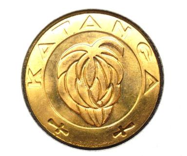 5 Francs Katanga - avers