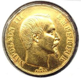 50 francs Napoléon III tête nue - avers
