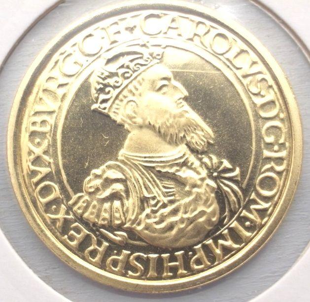 La pièce de 50 Ecus Charles Quint - l'or au prix du métal