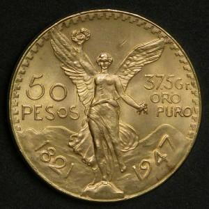 50 pesos Centenario_Ange de l'indépendance avers