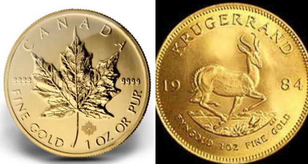Krugerrand vs Maple Leaf, le match des pièces à cours légal