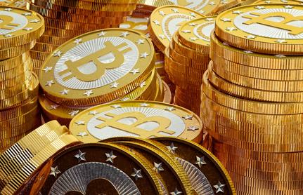 Bitcoins en or