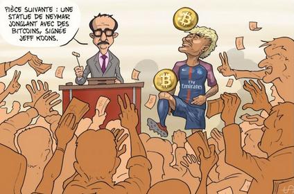 bulles Koons bitcoin Neymar