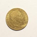 Demi Napoléon 1866 Napoléon tête laurée avers