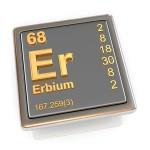 Erbium. Element chimique en 3D