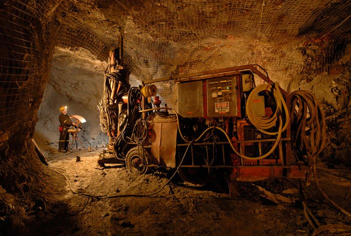 Mine d'or exploitation