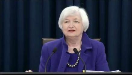 Janet Yellen, présidente de la FED, annonce la hausse des taux US