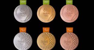 Les médailles de Rio 2016