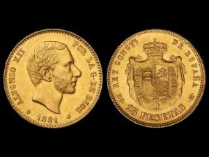 Moneda-del-Año-1881_Pièce Alfonso XII