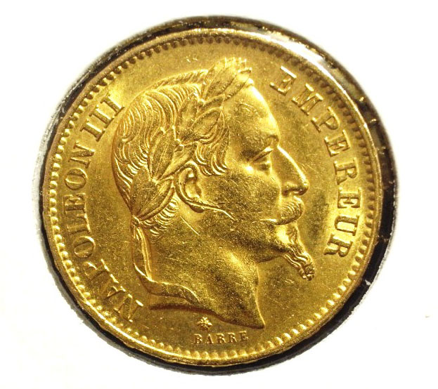 Napoléon 20 Francs Napoléon III Tête Laurée avers