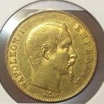 NAPOLEON 50F Napoléon III Tête nue 1858