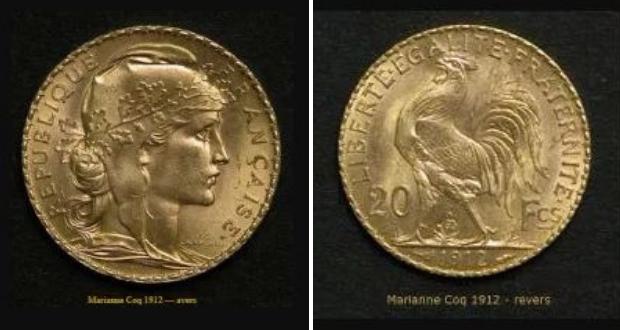 Marianne Coq 20 francs avers et revers