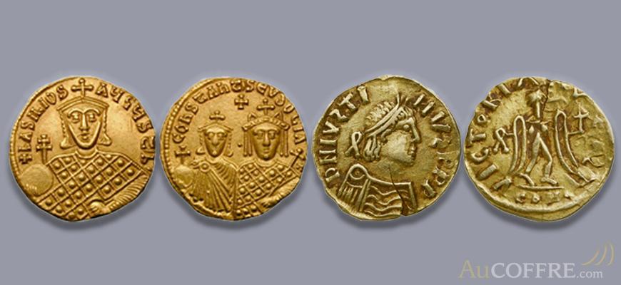 Numismatique : pièces en or emblématique