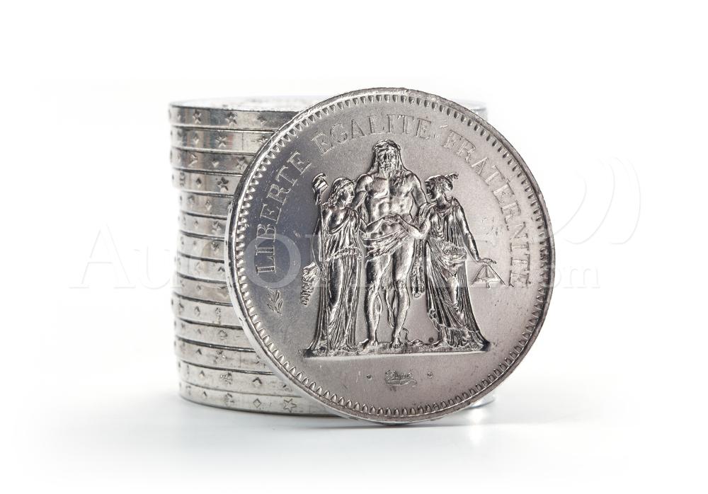 pièces argent 50F Hercule