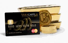 La VeraCarte, la 1e carte de paiement en or physique