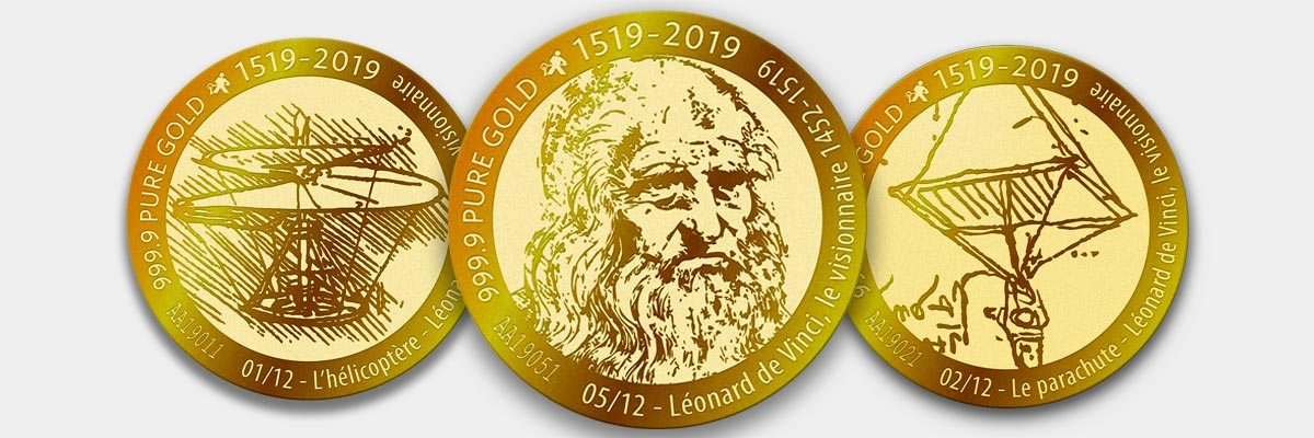 VeraMax Collector 2019 Léonard de Vinci - collection de pièces d'or AuCoffre