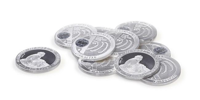 tas de pièces en argent métal Vera Silver produites par AuCOFFRE