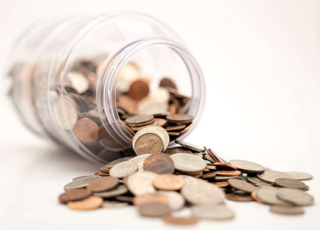 liquide en pièces économies