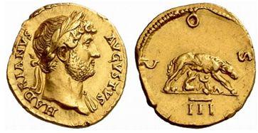 Aureus Hadrien - 128