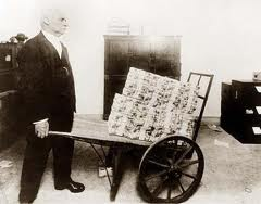 Brouette de reichsmarks en 1923