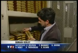 Les barres de 12,5 kg d'or de la Banque de France