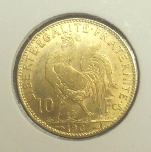 Le Napoléon 10 Francs, ou Demi-Napoléon. Une jolie petite pièce d'or avec un beau potentiel pour l'investissement dans l'or physique mais difficile à trouver dans un état acceptable (pouvant soutenir une prime).