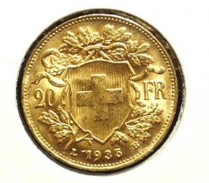 franc suisse Vreneli