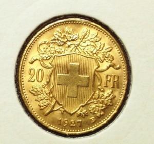 20 Francs suisses Vreneli