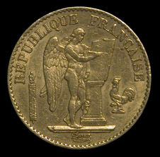 Génie troisième République 20 Francs - Pièces d'or type napoléon