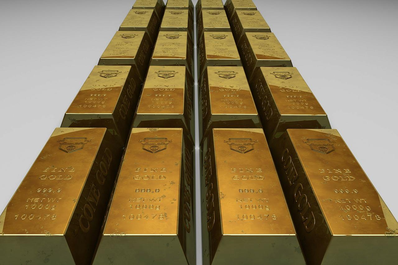 lingots d'or en hausse