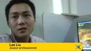 Joueur chinois professionnel qui gagne des pièces d'or pour les joueurs du monde entier