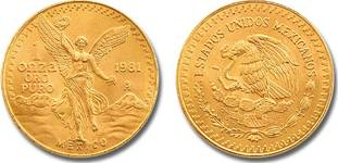 Libertad gold coin of 1981