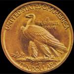 Reverso del Águila de 10 dólares de Saint-Gaudens