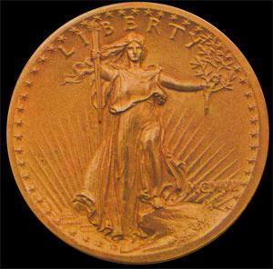 Le 20 dollars Liberty de Saint Gaudens