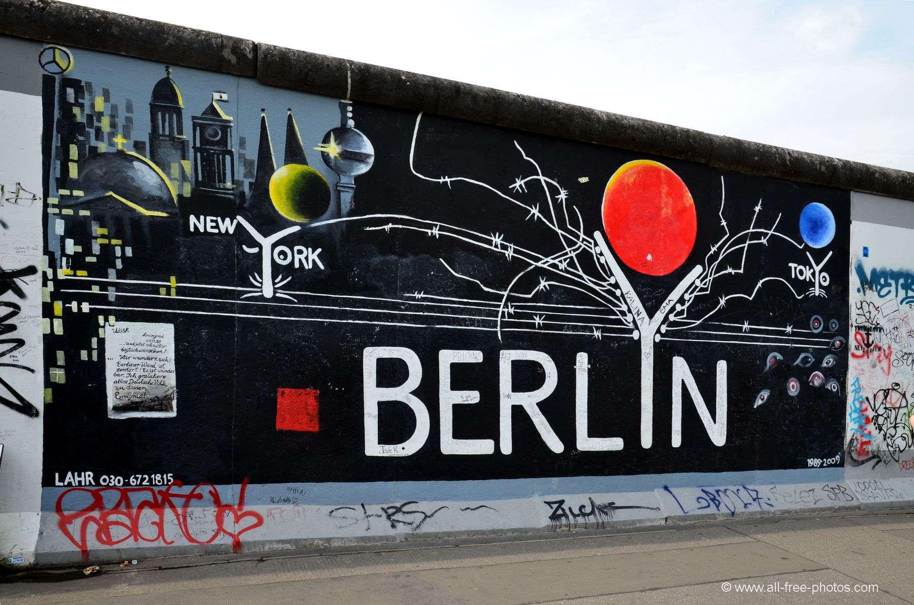Le mur de Berlin by all free photos.com