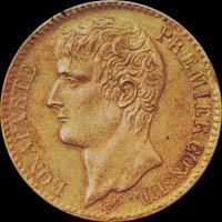 Pièces d'or 40F - Bonaparte premier consul