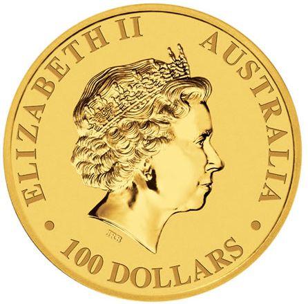 Avers du Nugget, la pièce d'or australienne. Gravure de Ian Rank Broadley