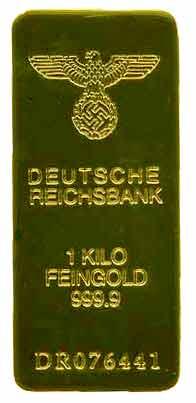 Un lingot issu de l or volé aux pays envahis par les nazis