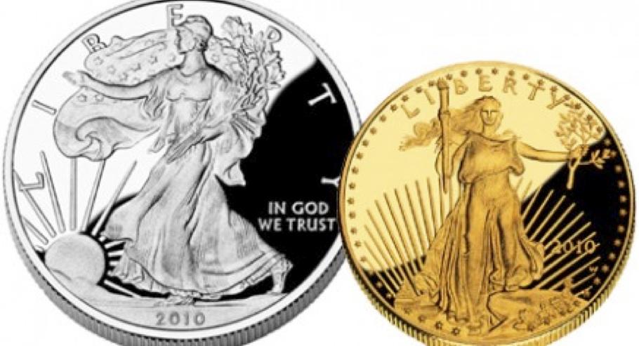 Eagle argent et or