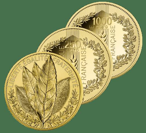 des pièces d'or pour garantir des euros non bancaires