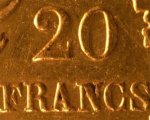 valeur faciale pièce de monnaie or napoléon